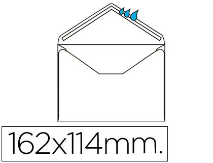Sobre blanco 114x162 mm engomado Caja de 500