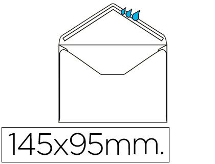 Sobre blanco 95x145 mm Engomado Caja de 500