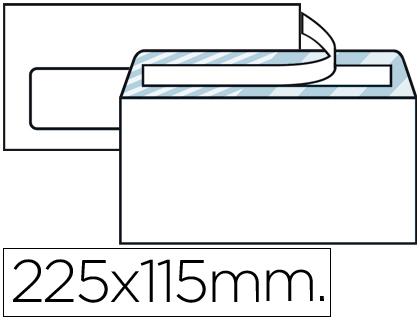 Sobre americano blanco 115 x 225 mm VENTANA IZQUIERDA Caja de 500