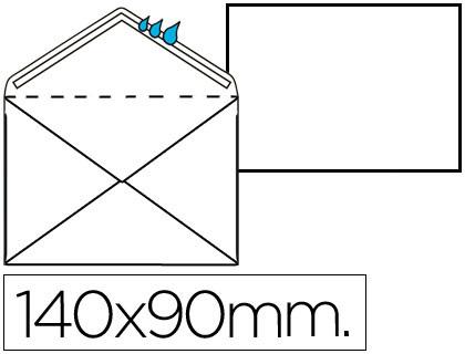 Sobre blanco 90x140 mm engomado Caja de 100