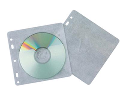 Sobre para CD/DVD solapa, multitaladro y forro protector (40 unds)