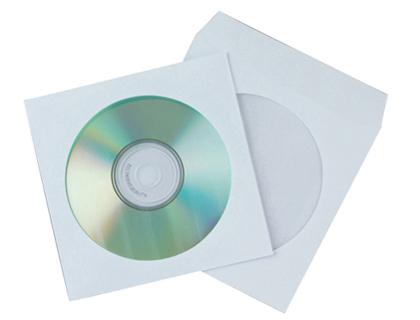 Sobre para CD/DVD ventana transparente y solapa (50 und.)