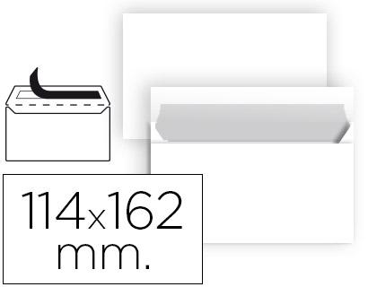Sobre blanco 114x162 mm tira de silicona Caja de 500