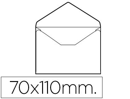 Sobre tarjeta de visita 70x110 mm Caja de 100