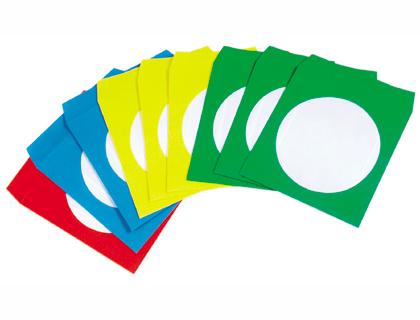 Sobre para CD/DVD ventana transparente colores surtidos
