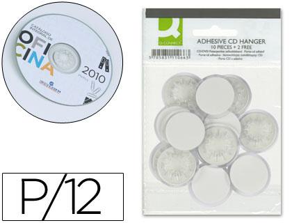 Soporte para CD/DVD adhesivos