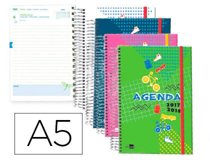 Agenda Escolar 17-18 Castellano, Catalán, Euskera y Gallego espiral
