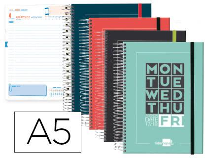 Agenda Escolar 17-18 College Bilingüe Día Página tapa cartón
