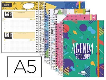 Agenda Escolar 18-19 Bilingüe Classic 2 DÍAS PÁGINA A-5