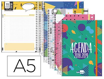 Agenda Escolar 18-19 Bilingüe Classic Día Página Tapa Cartón