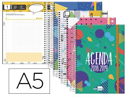 Agenda Escolar 18-19 Castellano, Catalán, Euskera y Gallego DÍA-PÁGINA A-5