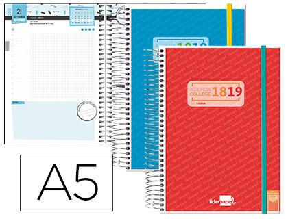 Agenda Escolar 18-19 College Bilingüe día página en tamaño A5