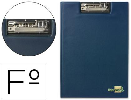 Carpeta con miniclip superior folio azul