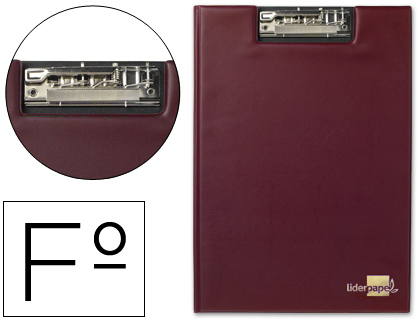 Carpeta con miniclip superior folio roja