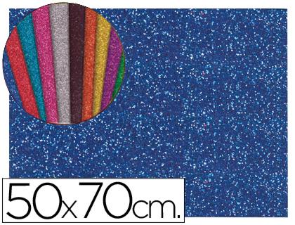 Goma EVA Purpurina Azul Oscuro 50x70