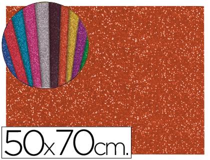 Goma EVA Purpurina Naranja 50x70