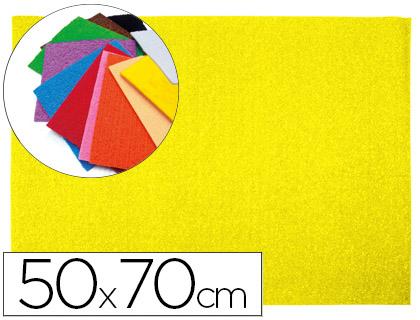 Goma EVA Textura Toalla Amarillo 50x70cm espesor 2 mm