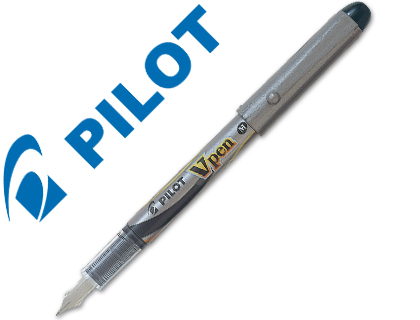Pluma desechable V-Pen silver Pilot tinta negra