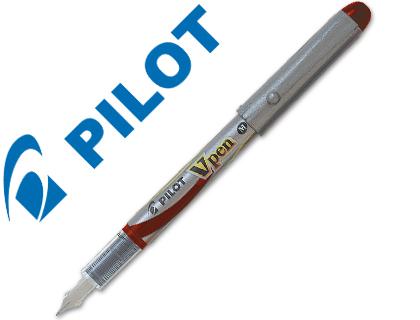 Pluma desechable V-Pen silver Pilot tinta roja