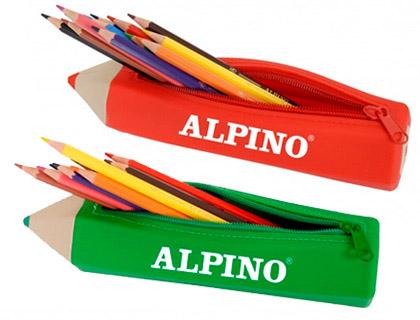 Portatodo Alpino forma lápiz con 12 lápices de colores