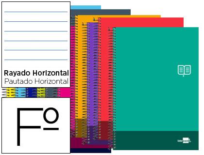 cuaderno escolar tapa blanda