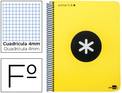 cuaderno escolar antartik fluor