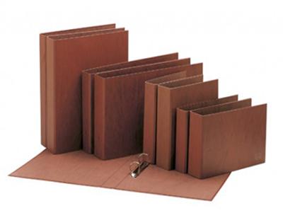 Carpetas de anillas Cartón Cuero