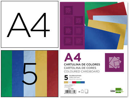 cartulina metalizada 5 colores