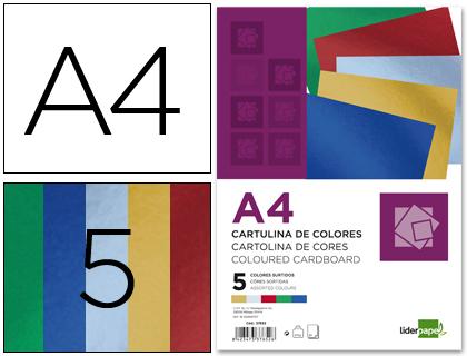 cartulina metalizada 5 colores