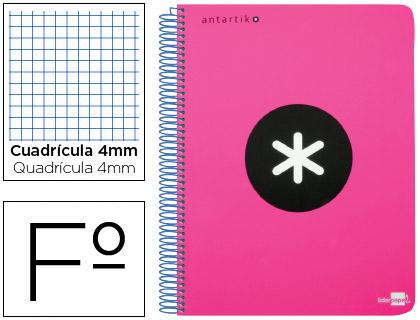 cuaderno escolar antartik rosa