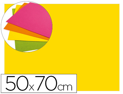 goma eva amarillo fluor 50x70