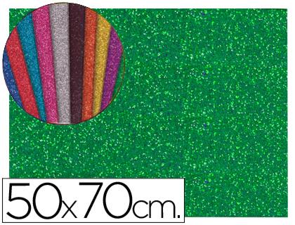goma eva purpurina Verde 50x70