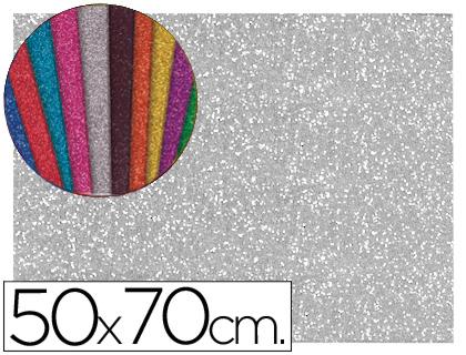 goma eva purpurina plata 50x70
