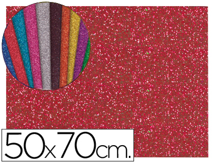 goma eva purpurina rojo 70x50