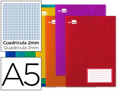 Libreta escolar grapada tamaño CUARTO milimetrado