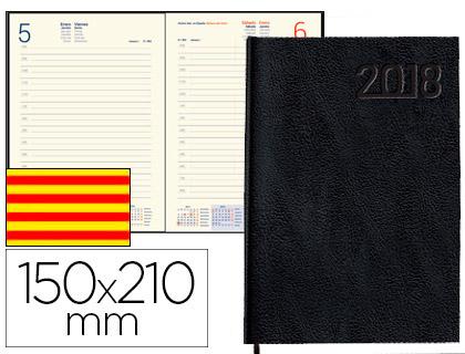 Agenda 2018 CATALÁN día página A-5 Corfu negro