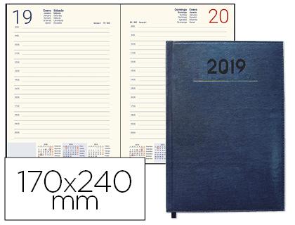 Agenda 2019 día página 17 x 24 cm Azul 05326g