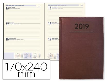 Agenda 2019 día página 17 x 24 cm Burdeos