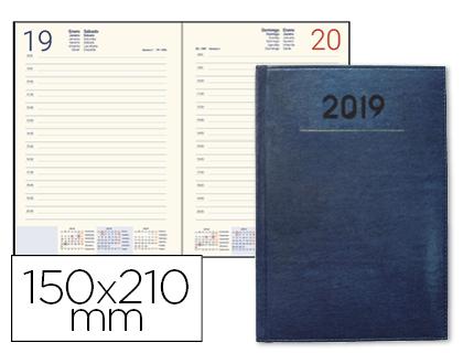 Agenda 2019 día página A-5 Creta Azul
