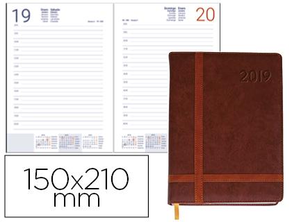 Agenda 2019 día página A-5 Eyon Marrón