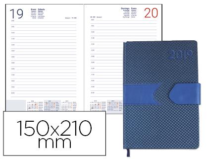Agenda 2019 día página A5 Azul Lidhor