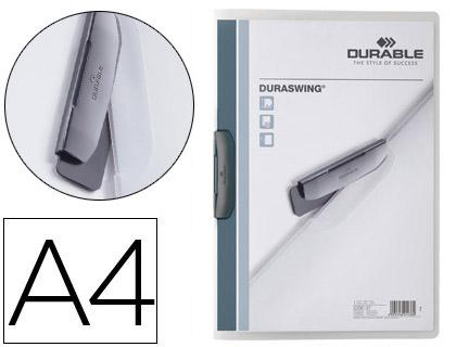 Dossier pinza lateral giratoria A-4 grafito Durable 30 hojas