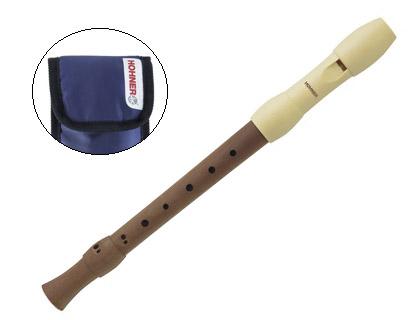 Flauta dulce Hohner de madera y plástico desmontable