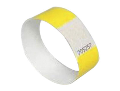 Pulsera identificativa imprimible amarillo 48 unds.
