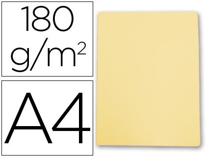 Subcarpeta cartulina Gio A-4 amarillo pastel