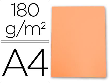 Subcarpeta cartulina Gio A-4 naranja pastel