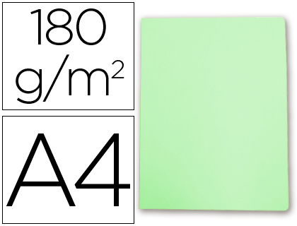 Subcarpeta cartulina Gio A-4 verde pastel