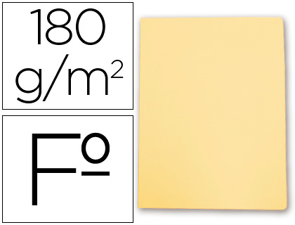 Subcarpeta cartulina Gio FOLIO amarillo pastel 50 unds.