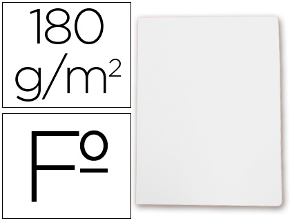 Subcarpeta cartulina Gio FOLIO blanco 50 unds.