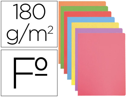 Subcarpeta cartulina Gio FOLIO colores pastel surtidos 50 unds.